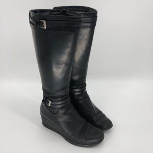 Ugg wedge riding boots